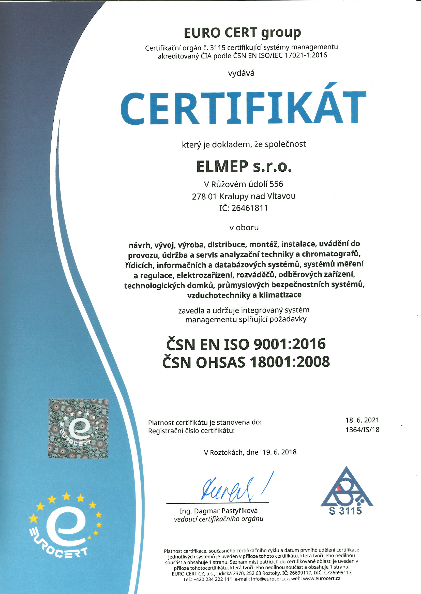 ISO 9001 OHSAS 18001